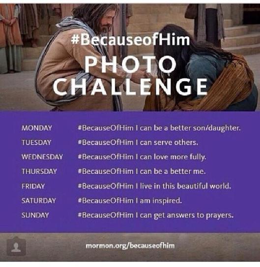 Because of Him Photo Challenge
